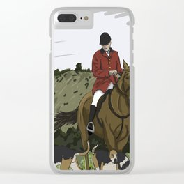 Fox Hunt Quick Sketch Clear iPhone Case