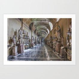 Corridors of the Vatican Museums Art Print