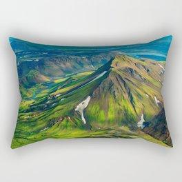Green Mountain Iceland Rectangular Pillow