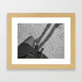 Walk away Framed Art Print