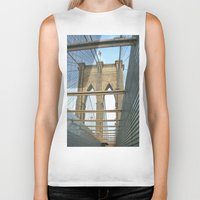 brooklyn bridge Biker Tanks featuring Brooklyn Bridge by BestSimpleJourney