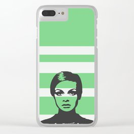 60s fashion model Clear iPhone Case