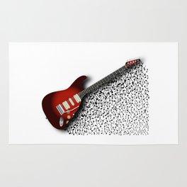 Musical Guitar Background Rug