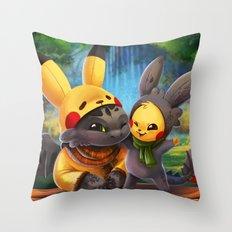 Cosplay Buddies Throw Pillow