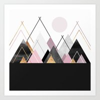 nordic Art Prints featuring Nordic Mountains by Elisabeth Fredriksson