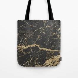 Marble Black Gold - Whistle Tote Bag