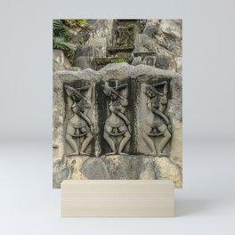 Buddha Rock Wall Mini Art Print