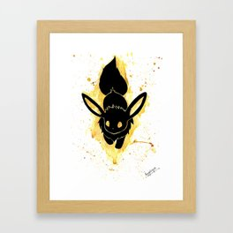 Eevee Splash Silhouette Print Framed Art Print