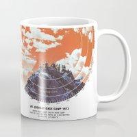 camp Mugs featuring Base Camp by mattdunne