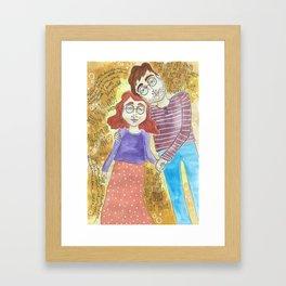 Bookworm Romance Framed Art Print