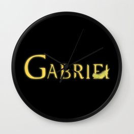Gabriel with Feather Wall Clock