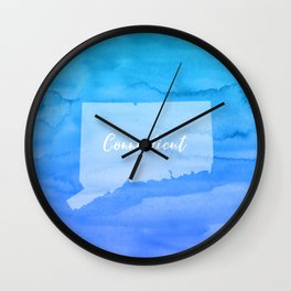 Sweet Home Connecticut Wall Clock