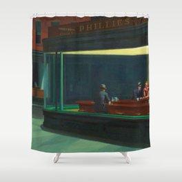 Nighthawks By Edward Hopper Shower Curtain