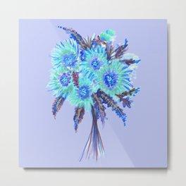 Blue Flower Bouquet  Metal Print