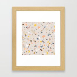 Lively Colorful Terrazzo Pattern Framed Art Print