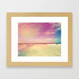 Dancing Waves, Floating Clouds Framed Art Print