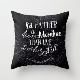 Lila Bard - Die On An Adventure Throw Pillow