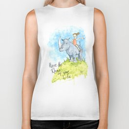 Have the Rhino of your Life Biker Tank