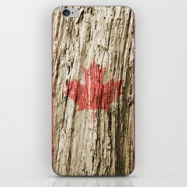 Canada on woods iPhone Skin
