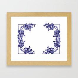 damask patern Framed Art Print
