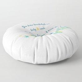 Pride and Prejudice, Jane Austen Floor Pillow