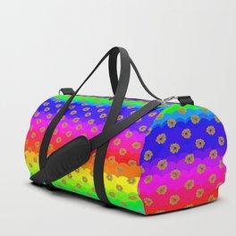 Rainbow and yellow flowers Duffle Bag
