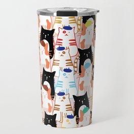 Beret Cats Travel Mug