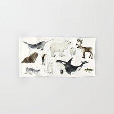 Arctic & Antarctic Animals Hand & Bath Towel