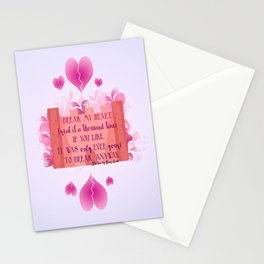 My Heart is Yours- The One Quote Stationery Cards