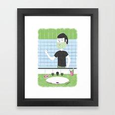 Baby Tear Beard Framed Art Print
