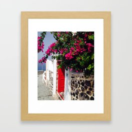 Santorini Door Framed Art Print
