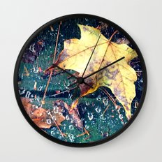 Fall in the Spider's Web Wall Clock