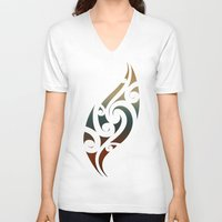 maori V-neck T-shirts featuring Maori Style by Lonica Photography & Poly Designs