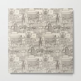 Edinburgh toile natural Metal Print