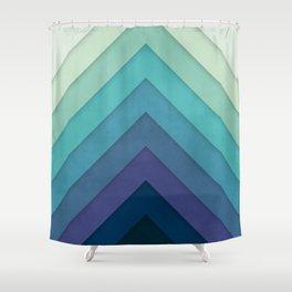 Retro Chevrons 001 Shower Curtain
