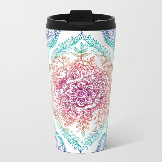 Indian Ink - Rainbow version Metal Travel Mug