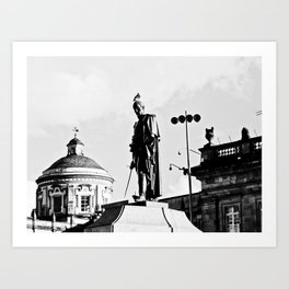 Bolivar and the dove. Art Print
