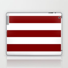 Maroon (HTML/CSS) - solid color - white stripes pattern Laptop & iPad Skin