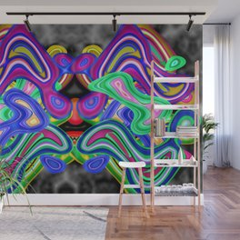 Colored nightmare ... Wall Mural