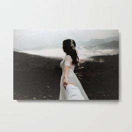 Following My Bride Metal Print