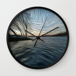 Lost in the Waves Wall Clock