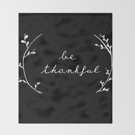 thankful Throw Blanket