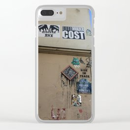 Graffiti and Grunge in the Back Streets of Paris Clear iPhone Case