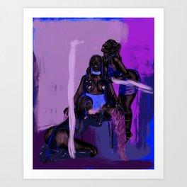 Black Nicki Minagic Art Print