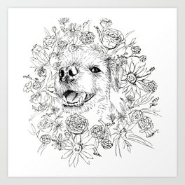 Lilly in the Flowers Art Print