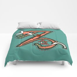 Celtic Fox Letter Z Comforters