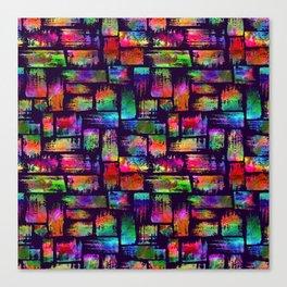 Rainbow brush stripes and strokes Canvas Print