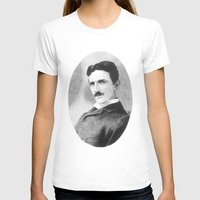 tesla T-shirts featuring Nikola Tesla by Daniel Point