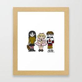 Trixie the Vampire Slayer with Little Vampires Framed Art Print