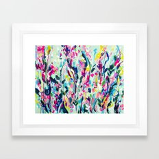 Rise - Abstract Flowers Framed Art Print